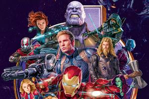 Avengers End Game Heroes 4k