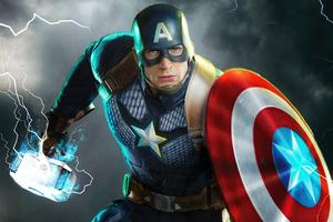 Avengers Endgame Captain America 4k Wallpaper