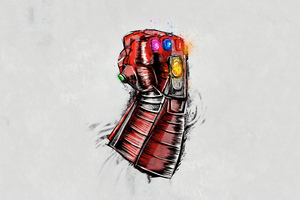 Avengers Endgame Gauntlet Sketch Poster Wallpaper
