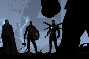 Avengers Endgame Minimal Illustration