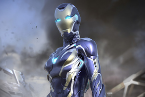 Avengers Endgame Rescue Suit Final Design 4k
