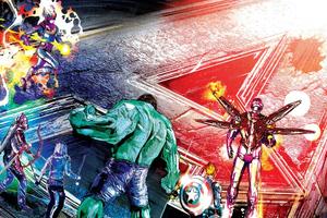 Avengers Endgame Sketch Art Wallpaper