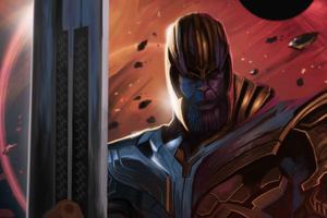 Avengers Endgame Thanos 4k 2019