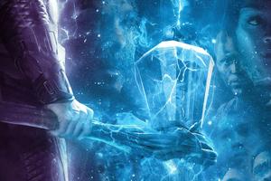 Avengers Endgame Thor Hammer Poster 4k Wallpaper