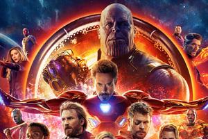 Avengers Infinity War 2018 4k Poster