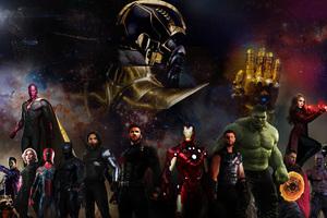 Avengers Infinity War 2018 5k Art