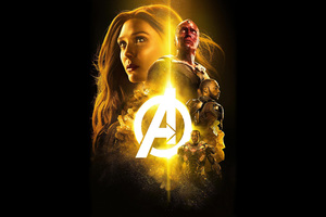 Avengers Infinity War 2018 The Mind Stone Poster 4k