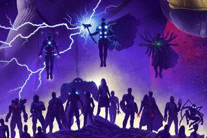 Avengers Infinity War 2019 Art Wallpaper
