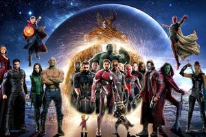 Avengers Infinity War 4k Poster Wallpaper