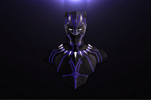 Avengers Infinity War Black Panther Minimalism