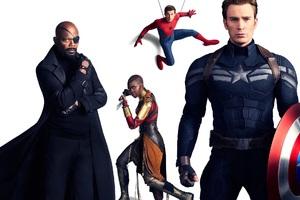 Avengers Infinity War Captain America Spiderman Nick Fury Wallpaper