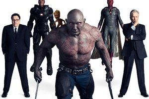 Avengers Infinity War Drax Baby Groot Vision War Machine