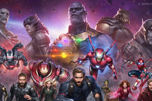 Avengers Infinity War Future Marvel Fight Wallpaper