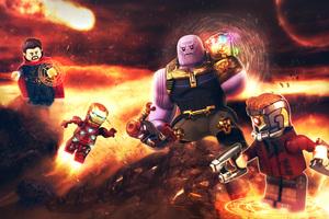 Avengers Infinity War Lego Wallpaper