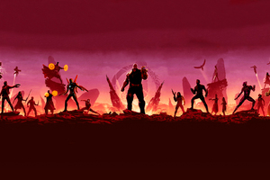 Avengers Infinity War Minimal Art Wallpaper