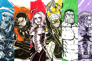 Avengers Infinity War Sketch Art Wallpaper