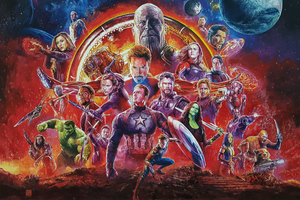 Avengers Infinity War Sketch Artwork Wallpaper