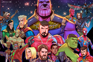 Avengers Infinity War Superheroes Artwork Wallpaper