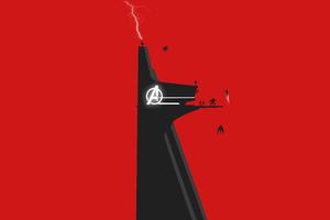 Avengers Stark Tower 5k Wallpaper