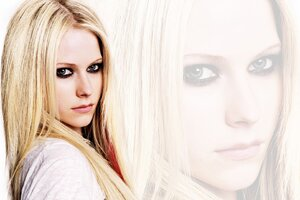Avril Lavinge Blonde Hairs