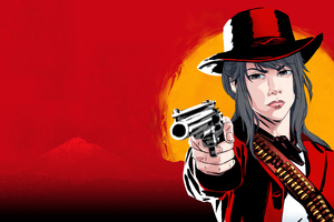 Ayano In RDR2 5k