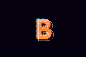 B Alphabet Logo 4k Wallpaper