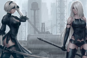 B And A2 Nier Automata Artwork