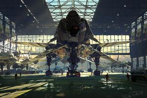 B19 Fleet Hangar 4k