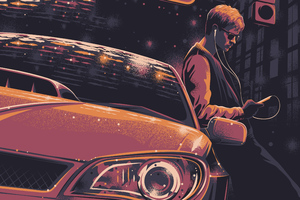 Baby Driver 4k Art Wallpaper