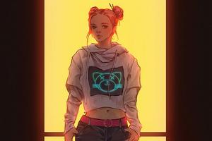 Baby Girl Cyberpunk Wallpaper