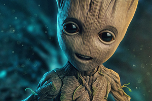 Baby Groot 2018 4k Wallpaper