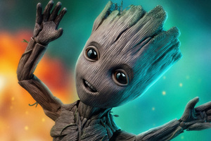 Baby Groot 4k 2018 Wallpaper