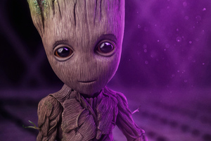 Baby Groot 4k New Wallpaper