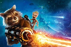 Baby Groot And Rocket Raccoon Guardians Of The Galaxy Vol 2 4k 8k Wallpaper