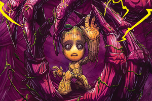 Baby Groot Art 4k