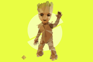 Baby Groot Artwork 4k