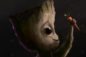 Baby Groot Carrot Artwork
