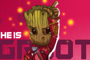 Baby Groot Dance Floor Wallpaper