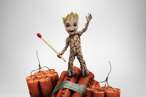 Baby Groot Guardians Of The Galaxy Vol 2 China Poster 4k