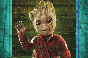 Baby Groot In Guardians Of The Galaxy Vol 2 4k