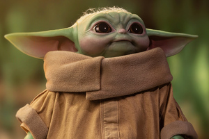 Baby Yoda Cute 4k Wallpaper