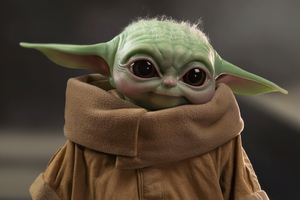 Baby Yoda Cute 5k Wallpaper