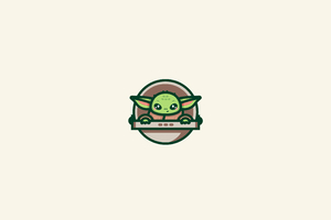 Baby Yoda Minimal Art 4k Wallpaper