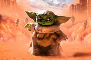Baby Yoda Strange Baby 5k Wallpaper
