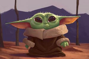 Baby Yoda4k Art