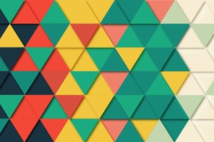 Background Geometric Triangle Pattern