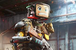 Badlands Robot With Gun 4k Wallpaper