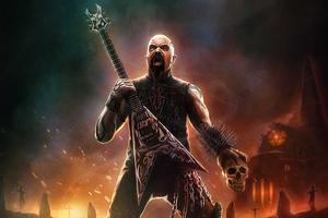 Bald Man With Guitar