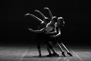 Ballerina Dancer Monochrome