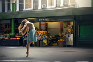 Ballerina Women Dancer In Market 4k Wallpaper